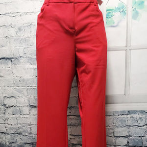 NWT New York & Co Red Boot Cut Stretch Dress Pants